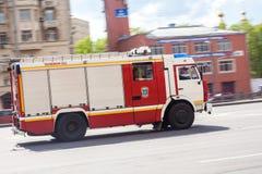 Russische brandvrachtwagen Royalty-vrije Stock Foto's