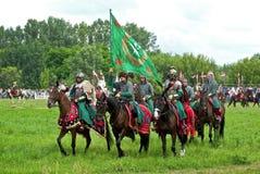Russische cavalerie Stock Foto's