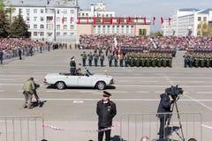 Russische ceremonie van de het openen militaire parade op jaarlijkse Kampioen Stock Afbeeldingen