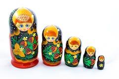 Russische cultuursymbolen - matrioshka Royalty-vrije Stock Afbeeldingen
