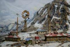 Russische 3D het modelpatroon dichte omhooggaand van de het noorden polaire post Royalty-vrije Stock Foto's