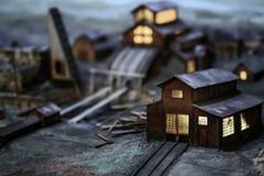Russische 3D het modelpatroon dichte omhooggaand van de het noorden polaire post Stock Afbeeldingen