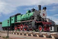 Russische Dampflokomotive, im Jahre 1949 errichtet, Nischni Nowgorod, Russland Stockfotografie