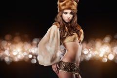 Russische dansende koningin Stock Fotografie