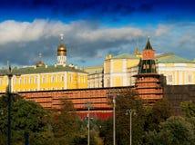 Russische de architectuurachtergrond van het Kremlin stock afbeelding