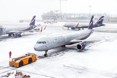 Russische de Luchtvaartlijnenluchtbus A321 van Aeroflot royalty-vrije stock fotografie