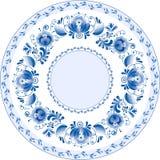 Russische dekorative dekorative Platte. Ghzel Stockfotografie