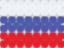 Russische die vlag van bloemen van anjers wordt gemaakt Vector illustratie Stock Afbeelding