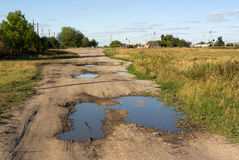 Russische Dorflandschaft Lizenzfreie Stockfotos