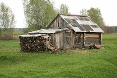 Russische dorpsbathhouse Royalty-vrije Stock Afbeelding