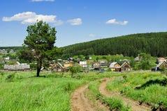 Russische dorpsrand Royalty-vrije Stock Afbeeldingen