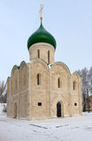 Russische eerste steenkathedraal van de 12de eeuw in Pereslavl Z Stock Foto