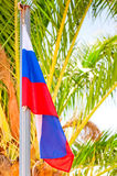 Russische Flagge Stockfotografie