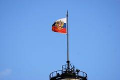 Russische Flagge Stockfoto