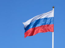 Russische Flagge Stockfoto