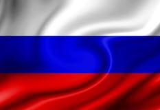 Russische Flagge lizenzfreie abbildung
