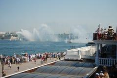 Russische Flotte in Krim Stockbild