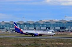 Russische Fluglinie Aeroflot an Alicante-Flughafen Lizenzfreie Stockfotos
