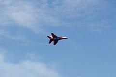 Russische Flugzeuge am airshow Lizenzfreie Stockbilder
