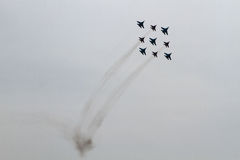 Russische Flugzeuge am airshow Stockbilder