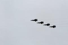 Russische Flugzeuge am airshow Lizenzfreies Stockfoto