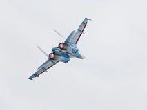 Russische Flugzeuge Su-27 im Flug Lizenzfreie Stockfotografie