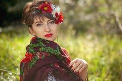 Russische Frau Lizenzfreies Stockbild