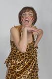 Russische Frau wie orientalischer Tanz und Bauchtanz Stockfotografie