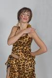 Russische Frau wie orientalischer Tanz und Bauchtanz Stockbilder