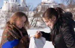 Russische Gastfreundschaft Stockfoto