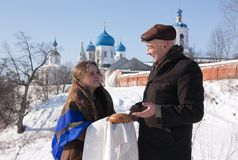 Russische Gastfreundschaft Lizenzfreies Stockfoto