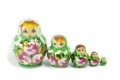 Russische geïsoleerde poppen Royalty-vrije Stock Afbeeldingen