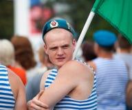 Russische gedemobiliseerde valschermjager Stock Foto's