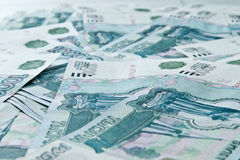 Russische geldachtergrond Royalty-vrije Stock Afbeelding