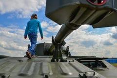 Russische gemotoriseerde houwitser stock afbeelding