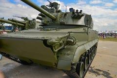 Russische gemotoriseerde houwitser Stock Foto's