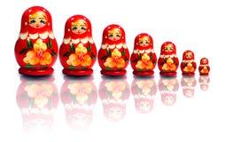Russische genestelde poppen Stock Fotografie