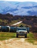 Russische gepantserde vrachtwagen in de Krim, de Oekraïne stock afbeelding