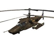 Russische gevechtshelikopter stock illustratie