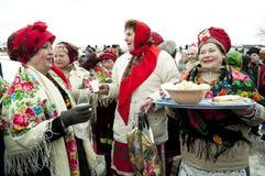 Russische godsdienstige vakantie Maslenitsa Stock Foto's