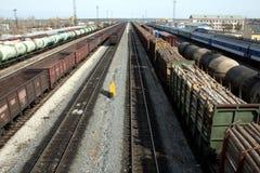 Russische goederentreinen Stock Afbeeldingen