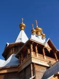 Russische goldene Hauben Stockfotografie