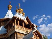 Russische gouden koepels Stock Foto's
