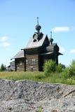 Russische hölzerne Kathedrale Stockfotografie