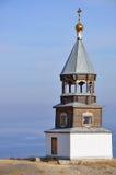 Russische hölzerne Kirche Stockfotos