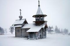 Russische hölzerne Nordarchitektur - Freiluftmuseum Kizhi, Karelien Lizenzfreie Stockfotos