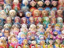 Russische herinnering - matreshka Stock Foto