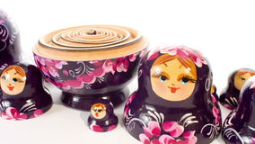 Russische het Nestelen Matryoshka Doll stock video