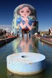 Russische het nestelen poppen Stock Afbeelding