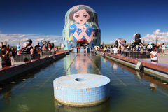 Russische het nestelen poppen Stock Foto's